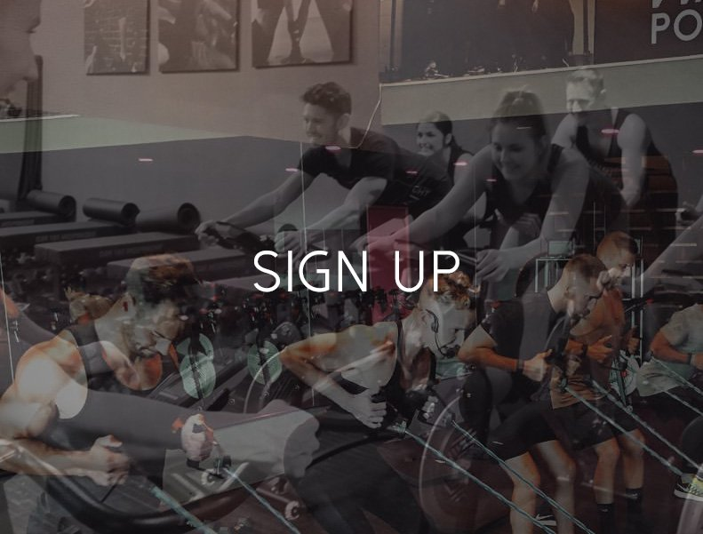 Image link to register for free class that combines core activation + circuit training + indoor cycling class