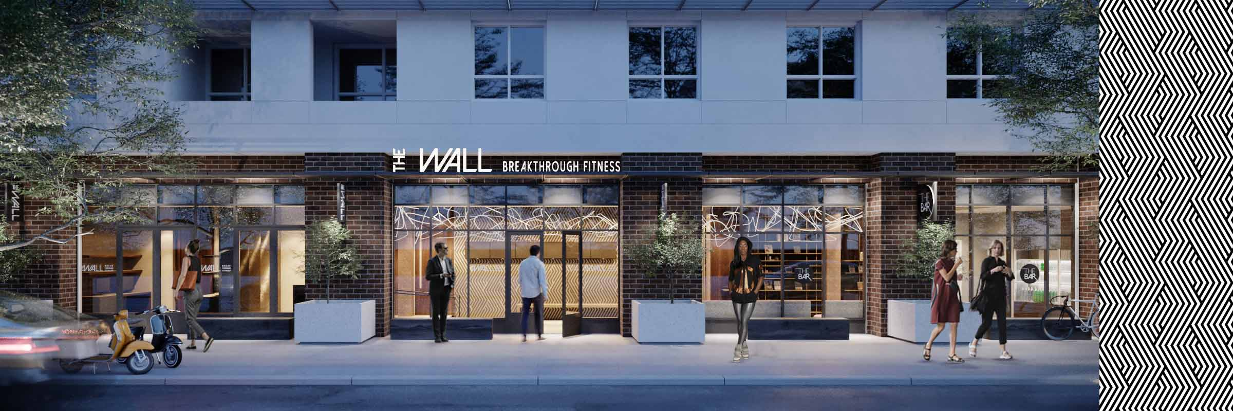 (desktop image link) Visit THE WALL which offers more than just cycling classes near you in Hollywood, combining high intensity circuit training and core exercise.